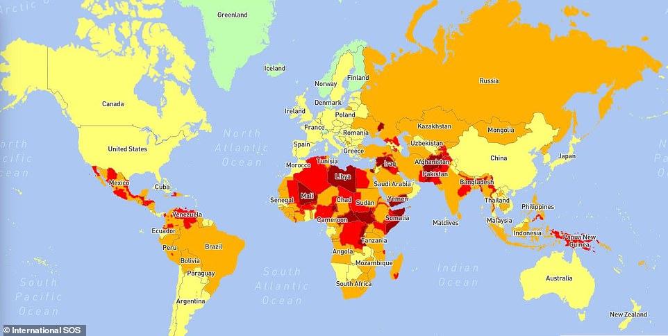 Cele mai periculoase țări pentru vizitat din lume pentru 2021