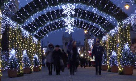 Christmas time in iasi, romania